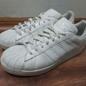 adidas Superstar All White Basketball Sneaker